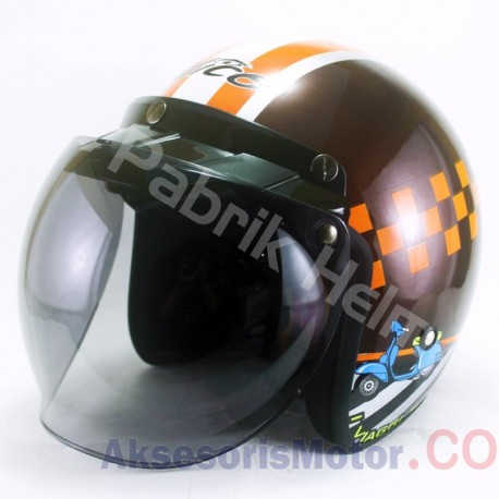 Helm Alice Retro Motif Around Glossy