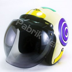 Helm Alice Retro Motif Lollipop Glossy