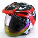 Helm VRC Half Face Motif 47 Black