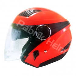Helm Zeus ZS-610 Neon Orange Glossy