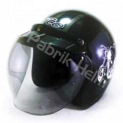 Helm Alice Retro Motif Life A Bike Glossy